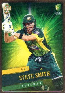 2015/16 CA & BBL Cricket Gold Parallel #PS26 Steve Smith Australian ODI