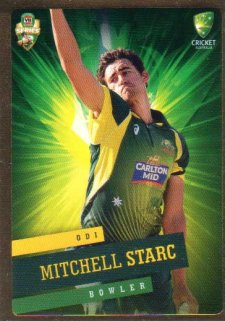 2015/16 CA & BBL Cricket Gold Parallel #PS27 Mitchell Starc Australian ODI