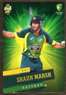 2015/16 CA & BBL Cricket Gold Parallel #PS24 Shaun Marsh Australian ODI
