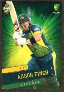 2015/16 CA & BBL Cricket Gold Parallel #PS20 Aaron Finch Australian ODI