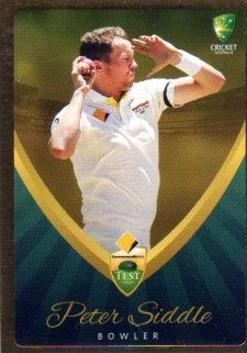 2015/16 CA & BBL Cricket Gold Parallel #PS11 Peter Siddle Australian Test