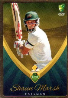 2015/16 CA & BBL Cricket Gold Parallel #PS9 Shaun Marsh Australian Test