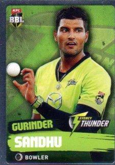 2015/16 CA & BBL Cricket Silver Parallel #P179 Gurinder Sandhu Thunder