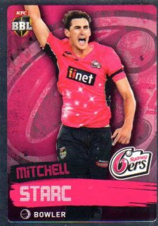 2015/16 CA & BBL Cricket Silver Parallel #p165 Mitchell Starc Sixers