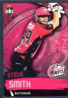 2015/16 CA & BBL Cricket Silver Parallel #P164 Steve Smith Sixers