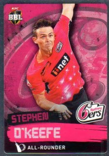 2015/16 CA & BBL Cricket Silver Parallel #P162 Stephen O'Keefe Sixers