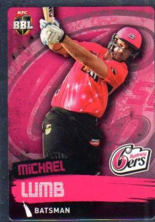 2015/16 CA & BBL Cricket Silver Parallel #P159 Michael Lumb Sixers