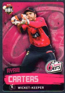 2015/16 CA & BBL Cricket Silver Parallel #P155 Ryan Carters Sixers