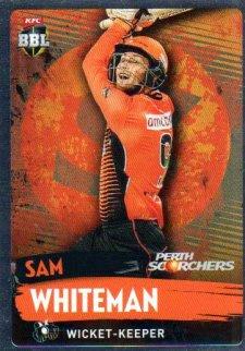 2015/16 CA & BBL Cricket Silver Parallel #P150 Sam Whiteman Scorchers