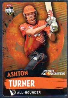 2015/16 CA & BBL Cricket Silver Parallel #P147 Ashton Turner Scorchers