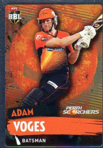 2015/16 CA & BBL Cricket Silver Parallel #P149 Adam Voges Scorchers