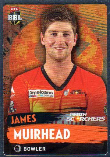 2015/16 CA & BBL Cricket Silver Parallel #P145 James Muirhead Scorchers