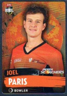 2015/16 CA & BBL Cricket Silver Parallel #P146 Joel Paris Scorchers