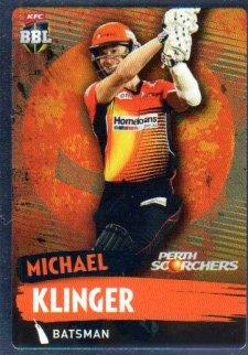 2015/16 CA & BBL Cricket Silver Parallel #P142 Michael Klinger Scorchers