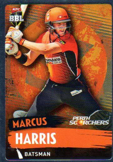 2015/16 CA & BBL Cricket Silver Parallel #P140 Marcus Harris Scorchers