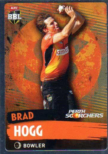 2015/16 CA & BBL Cricket Silver Parallel #P141 Brad Hogg Scorchers