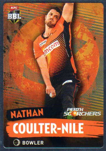 2015/16 CA & BBL Cricket Silver Parallel #P139 Nathan Coulter-Nile Scorchers
