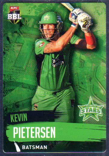 2015/16 CA & BBL Cricket Silver Parallel #P129 Kevin Pietersen Stars