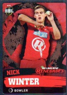 2015/16 CA & BBL Cricket Silver Parallel #P120 Nick Winter Renegades