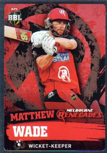 2015/16 CA & BBL Cricket Silver Parallel #P118 Matthew Wade Renegades