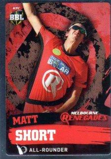 2015/16 CA & BBL Cricket Silver Parallel #P116 Matt Short Renegades