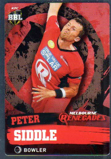 2015/16 CA & BBL Cricket Silver Parallel #P117 Peter Siddle Renegades