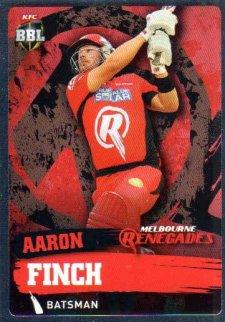 2015/16 CA & BBL Cricket Silver Parallel #P111 Aaron Finch Renegades