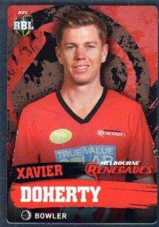2015/16 CA & BBL Cricket Silver Parallel #P109 Xavier Doherty Renegades