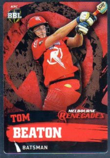 2015/16 CA & BBL Cricket Silver Parallel #P106 Tom Beaton Renegades