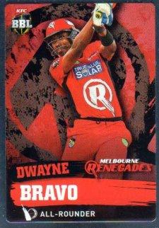 2015/16 CA & BBL Cricket Silver Parallel #P107 Dwayne Bravo Renegades