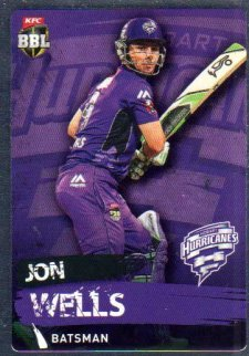 2015/16 CA & BBL Cricket Silver Parallel #P105 Jon Wells Hurricanes