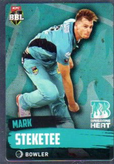 2015/16 CA & BBL Cricket Silver Parallel #P90 Mark Steketee Heat