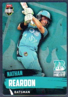 2015/16 CA & BBL Cricket Silver Parallel #P89 Nathan Reardon Heat