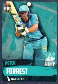 2015/16 CA & BBL Cricket Silver Parallel #P83 Peter Forrest Heat
