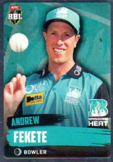 2015/16 CA & BBL Cricket Silver Parallel #P81 Andrew Fekete Heat