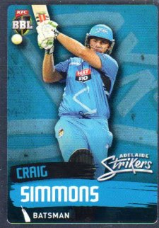 2015/16 CA & BBL Cricket Silver Parallel #P74 Craig Simmons Strikers