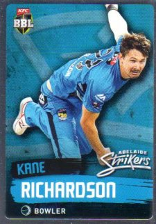 2015/16 CA & BBL Cricket Silver Parallel #P72 Kane Richardson Strikers