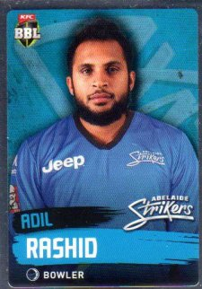 2015/16 CA & BBL Cricket Silver Parallel #P71 Adil Rashid Strikers