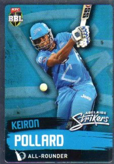2015/16 CA & BBL Cricket Silver Parallel #P69 Kieron Pollard Strikers