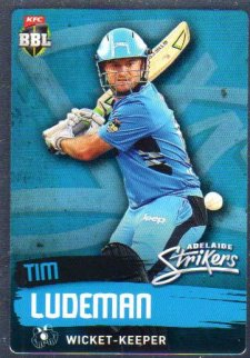 2015/16 CA & BBL Cricket Silver Parallel #P67 Tim Ludeman Strikers