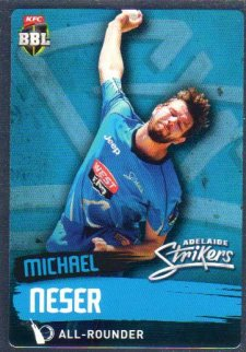 2015/16 CA & BBL Cricket Silver Parallel #P68 Michael Neser Strikers