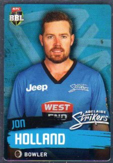2015/16 CA & BBL Cricket Silver Parallel #P64 Jon Holland Strikers
