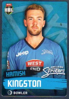 2015/16 CA & BBL Cricket Silver Parallel #P65 Hamish Kingston Strikers