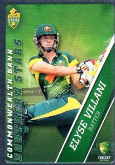 2015/16 CA & BBL Cricket Silver Parallel #P60 Elyse Villani Southern Stars