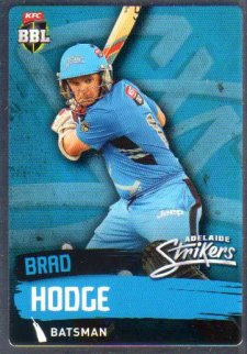 2015/16 CA & BBL Cricket Silver Parallel #P63 Brad Hodge Strikers