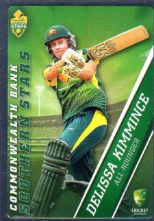 2015/16 CA & BBL Cricket Silver Parallel #P55 Delissa Kimmince Southern Stars