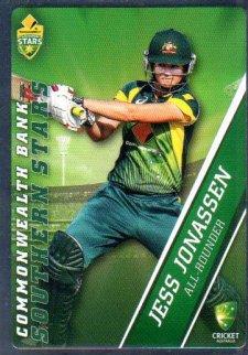 2015/16 CA & BBL Cricket Silver Parallel #P54 Jess Jonassen Southern Stars