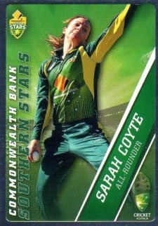 2015/16 CA & BBL Cricket Silver Parallel #P50 Sarah Coyte Southern Stars