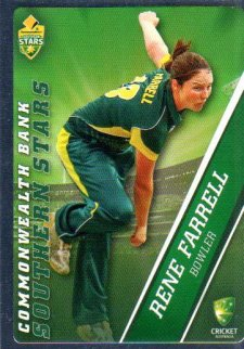 2015/16 CA & BBL Cricket Silver Parallel #P51 Rene Farrell Southern Stars