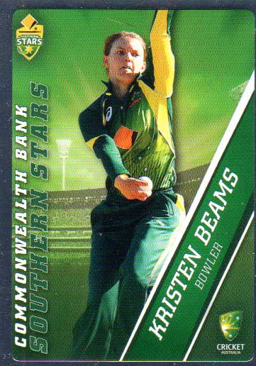 2015/16 CA & BBL Cricket Silver Parallel #P46 Kristen Beams Southern Stars